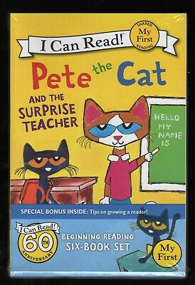 "Pete the Cat - Lot A - I Can Read - Set of 6 ""My First"" Stories - NEW - MINT"