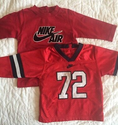 Nike Infant Boy Top Lot 6 9 Mo Red Football Jersey Long Sleeve