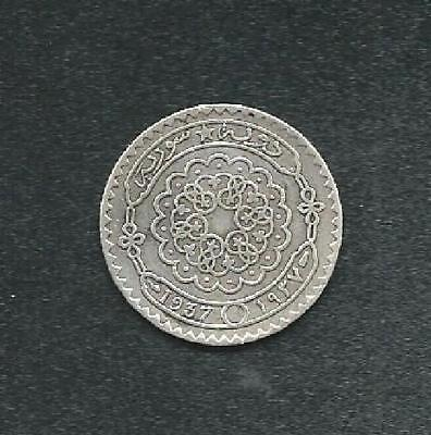 """Syria 1937 Silver 25 Piasters """"scarce Date"""" """"xf"""" #4512 Low Price & Free Usa Ship"""