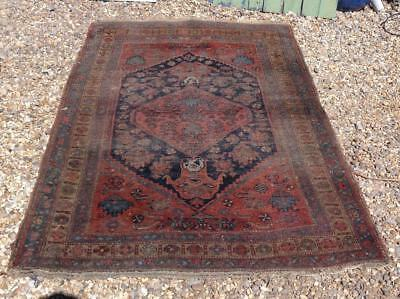 Antique Persian Rug 6ft 192cmx116cm Hand Woven Wool Very Decorative Rustic Chic