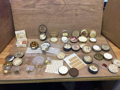 Vintage Dial Enamel And Feet Kit For Pocket Watches Clocks Etc