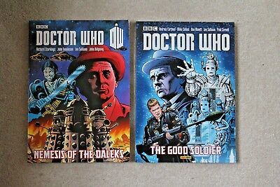 Doctor Who NEMESIS OF THE DALEKS + THE GOOD SOLDIER Sylvester McCoy Comics VGC