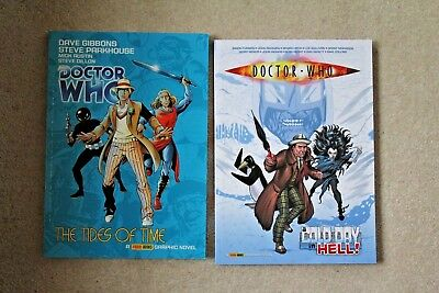 Doctor Who THE TIDES OF TIME + COLD DAY IN HELL Davison & McCoy Comics VGC