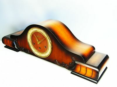 A Big Pure Art Deco Westminster Chiming Mantel Clock From Prima - Mauthe Germany