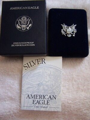 1994 P Proof American Silver Eagle Silver Dollar Coin Complete With Box & COA