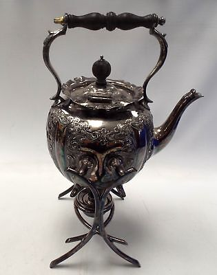 Silver Plated TEAPOT / KETTLE With Stand And Warmer - N48