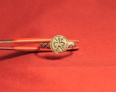 Medieval Knight's Silver Seal Ring - Lily Seal, 12. Century, Silver Inlay, Rare