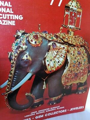 Kandy Elephant on Cover Lapidary Journal Gem Magazine Dec 1972 Esala Perehara