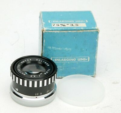 Five Enlarging Lenses 50-75-105. All In Usable Condition. For Cleaning Or Repair