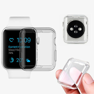 For Apple Watch Series 3/2/1 38/42mm Slim Full Body Clear Soft TPU Case Cover