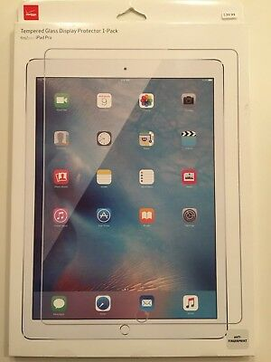 """Verizon Tempered Glass Display Protector 1-Pack for iPad Pro 12.9"""" - New"""