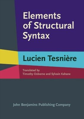Elements of Structural Syntax (Hardcover), Tesniere, Lucien, Osbo...