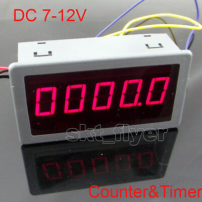"DC 7-12V 0.56"" Red LED Digital Counter & Timer & Meter count Multi-function"