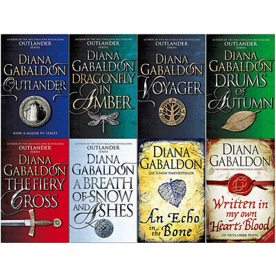 Diana Gabaldon Collection Outlander Series 8 Books Set Dragonfly In Amber NEW