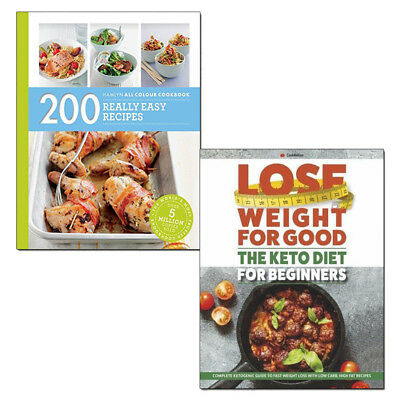 200 Really Easy Recipes and Keto Diet for Beginners 2 Books Collection Set NEW
