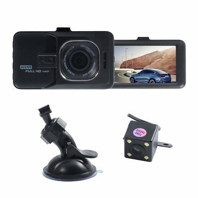 Dual Lens HD 1080P Auto Kamera Vehicle DVR Überwachung Dashcam Recorder Jul