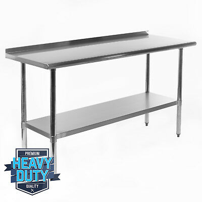 "OPEN BOX - Stainless Steel Kitchen Restaurant Work Prep Table Backsplash 24""x60"""