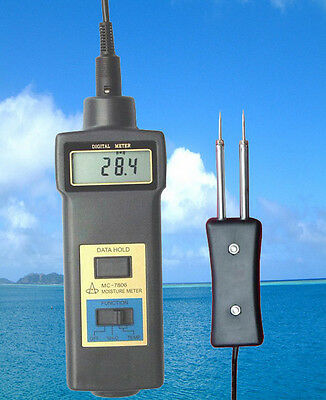 Hay bale wood fiber tobacco Moisture Meter 0-50% thermometer –10-60℃ two-in-one