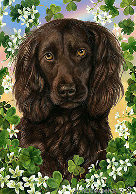 Large Indoor/Outdoor Clover Flag - Boykin Spaniel 31462
