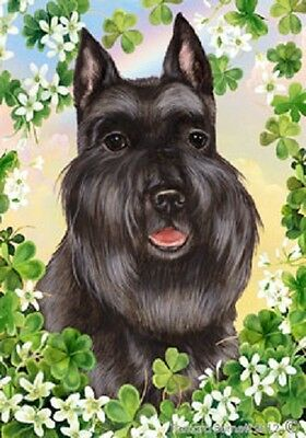 Large Indoor/Outdoor Clover Flag - Black Schnauzer 31237