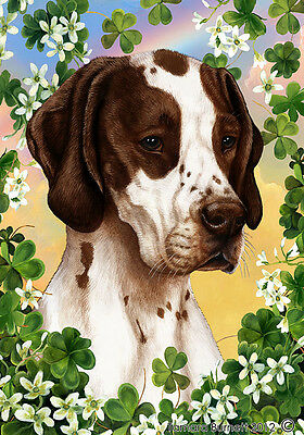 Large Indoor/Outdoor Clover Flag - Liver & White Pointer 31467