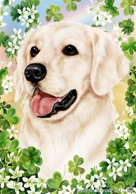 Large Indoor/Outdoor Clover Flag - White Golden Retriever 31216