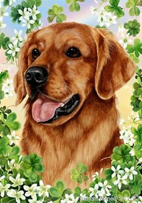 Large Indoor/Outdoor Clover Flag - Red Golden Retriever 31217