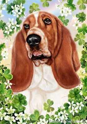 Large Indoor/Outdoor Clover Flag - Basset Hound 31021