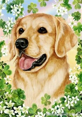 Large Indoor/Outdoor Clover Flag - Golden Retriever 31005