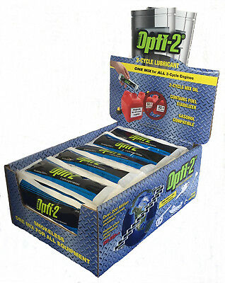 Opti-2 Smokeless Two-Cycle 2-Stroke Oil + Fuel Stabilizer Box of 48x 5 L. Mixes