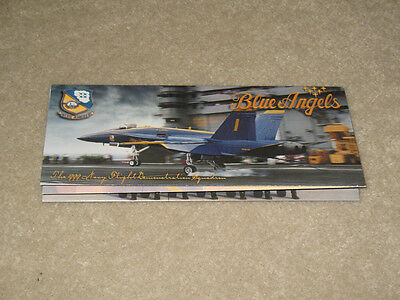 US NAVY 1999 Blue Angels Team Brochure Program Air Show F18 F-18 Hornet Super