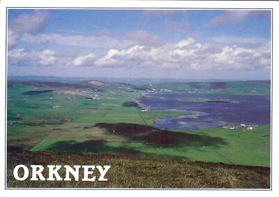 Scotland: Orkney isles, the Bay of Firth from Wideford Hill - Posted 2005