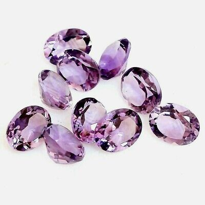 Wholesale Lot of 8x6mm Oval Facet Cut Natural Amethyst Loose Calibrated Gemstone