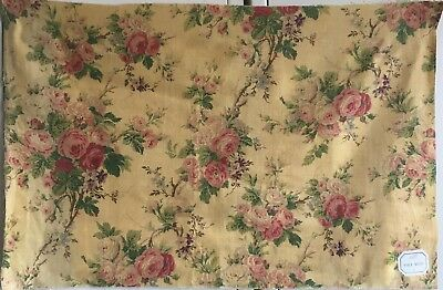 Beautiful 1930's printed French Linen Floral Fabric - (2413)
