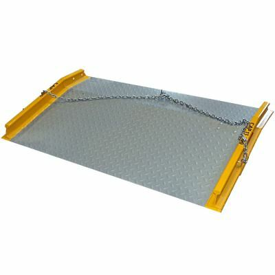 "13,000 lb Load 60"" x 60"" Steel Dock Board Plate & Forklift Pallet Ramp"