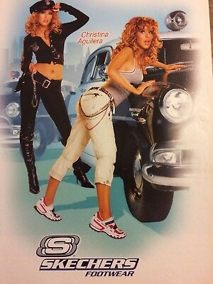 Christina Aguilera, Skechers Shoes, Full Page Print Ad