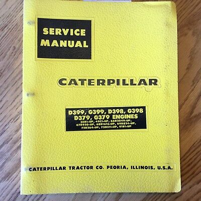 cat caterpillar d379 d398 d399 g379 g398 service shop manual engine rh picclick com Caterpillar D398 Caterpillar D399 Specifications