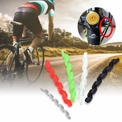 5Pcs Spiral Soft TPR Outer Cable Bike Frame Protectors Brake Cable Sleeve Exotic