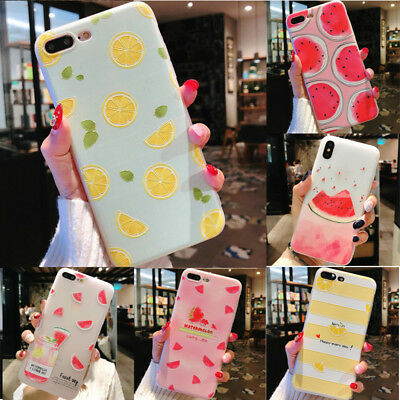 Mobile Phone Silicone Soft Protector  Shell  Case Fruit  For Iphone