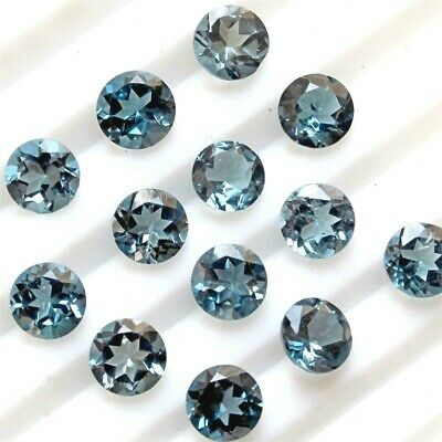 Lot of 5x5mm Round Facet AAA Natural London Blue Topaz Loose Calibrated Gemstone