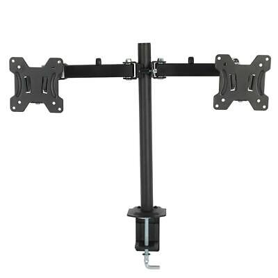 """2LCD Monitor Arm Desk Table Mount Stand Double-end for 13 17 19 24 26 27"""" Screen"""