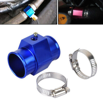Blue 38mm Water Temperature Joint Pipe Temp Sensor Gauge Radiator Hose Adapter