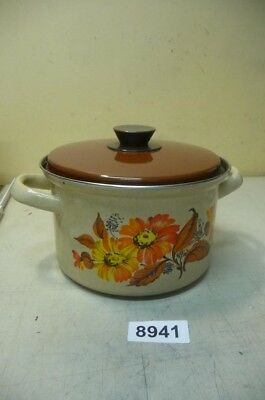 8941. Alter Emaille Email Topf Old enamel pot