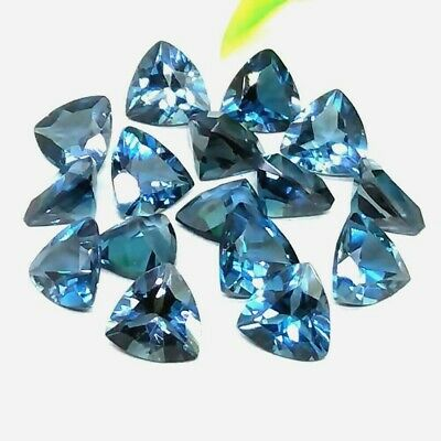 Wholesale Lot of 6mm Trillion Cut London Blue Topaz Loose Calibrated Gemstone