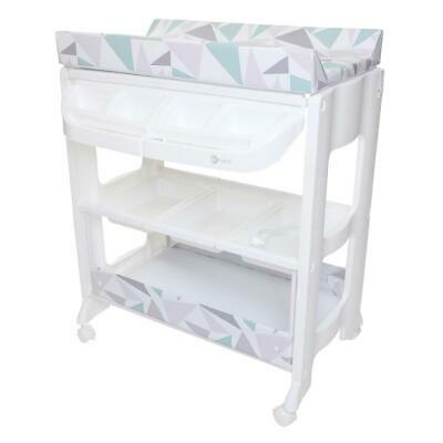 MyChild Peachy Changing Station (Geo Diamond) With Baby Bath & Changing Mat