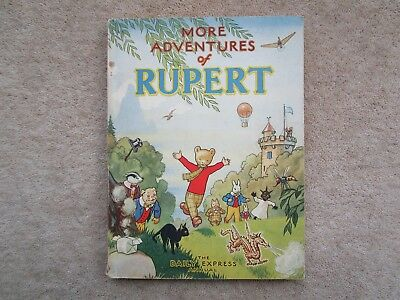 Rupert Bear Annual RARE 1947 WAR ECONOMY EDITION, PRICE UNCLIPPED 3/6