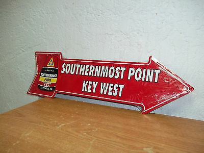 """Key West, Florida Arrow Sign """" Southernmost Point"""" New 20 x 6"""