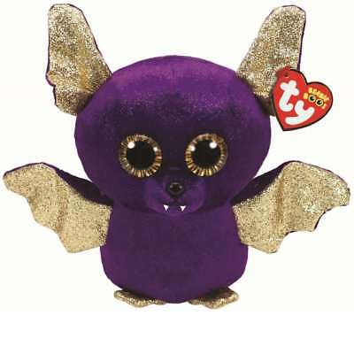 Ty Beanie Babies Boos Count Purple Bat Halloween Plush Soft Toy New With Tags