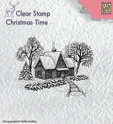 Nellie Snellen / Clear / Winter / Scene / Christmas / UNMOUNTED / stamp / CT019