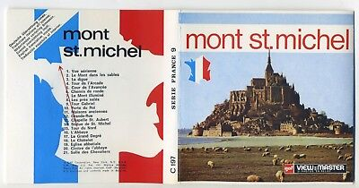 MONT ST. MICHEL France GAF ViewMaster Packet C-197 Mint Condition
